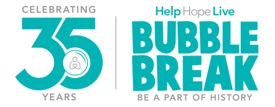 Help Hope Live and #Bubblebreak35